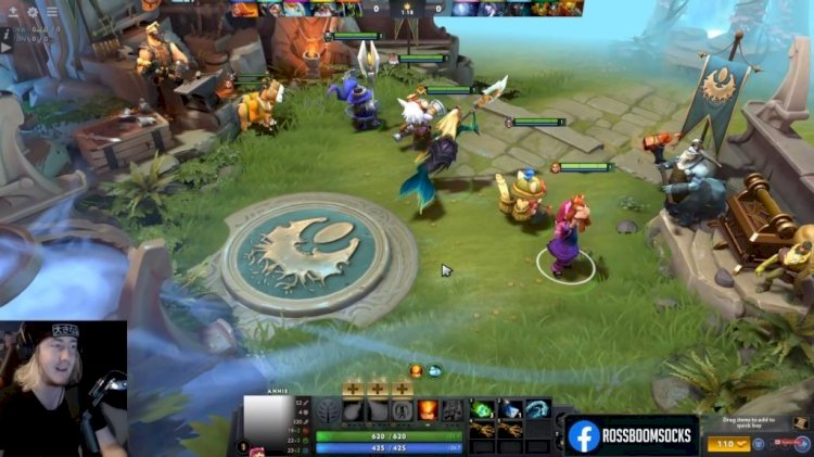A mod that lets you play League of Legends heroes in Dota 2