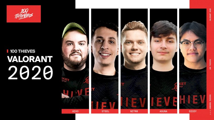 100 Thieves roundup Valorant roster with Asuna and Dicey