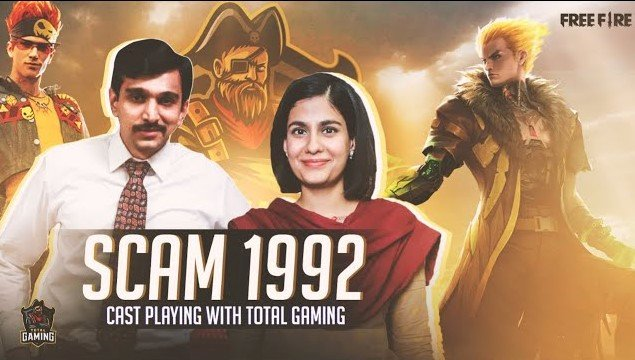 Scam 1992 cast appears on Total Gaming's stream to play Free Fire