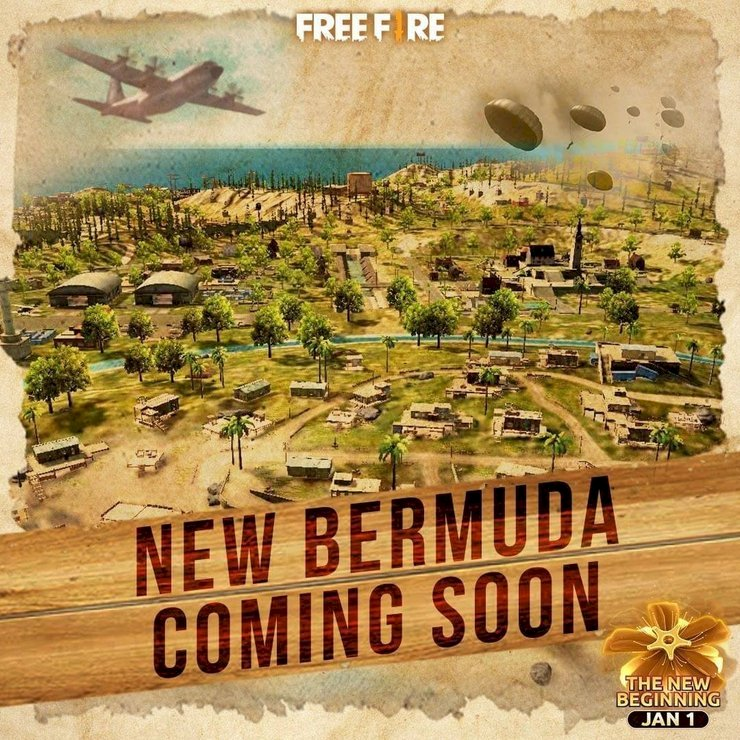 Bermuda 2.0 is coming to Free Fire with the New Year