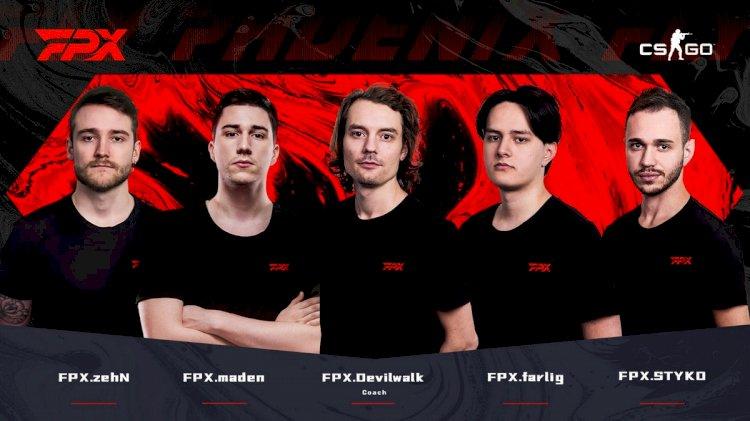 FunPlus Phoenix re-enters CS:GO with former GODSENT lineup