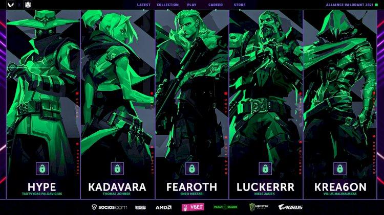 Alliance complete VALORANT roster