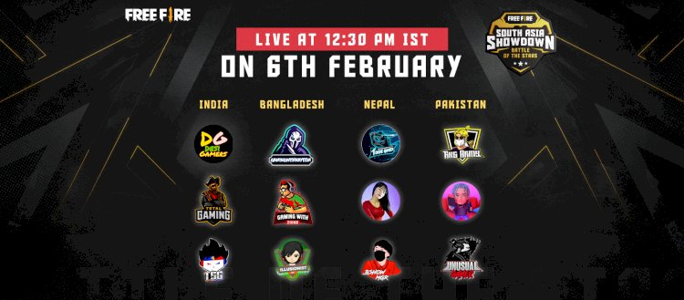 Garena announces the Free Fire South Asia Showdown: Battle of the Stars, its first esports tournament for the region