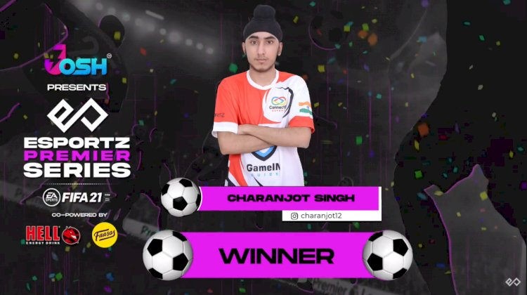 Charanjot Singh is the First Online FIFA 21 Qualifier Champion of Esportz Premier Series 2021