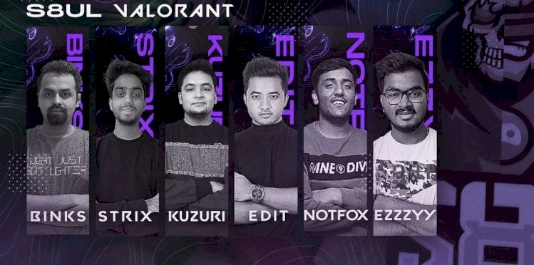 S8ul Esports release VALORANT roster, Retains Binks69 as a Content Creator