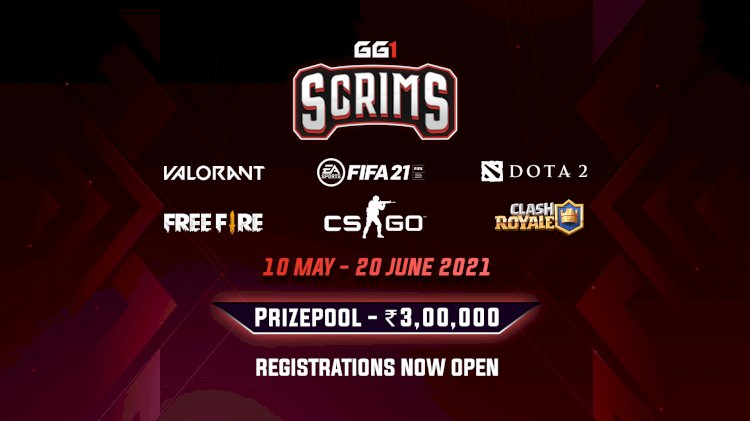 GoodGame1 announces INR 3,00,000 Scrims Event Featuring Six Games