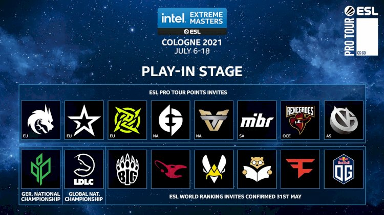IEM Cologne play-in stage team list reavealed by ESL