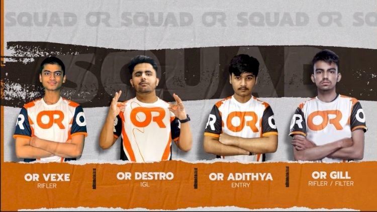 Orange Rock Esports unveils Battlegrounds Mobile India roster