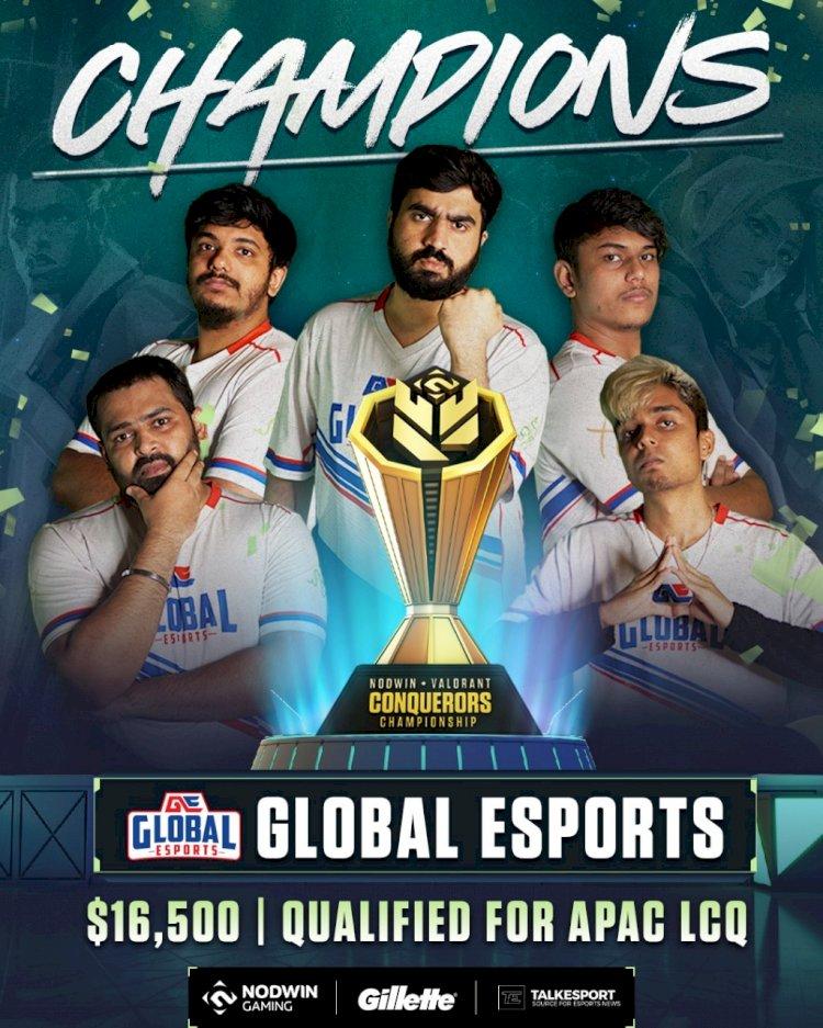 Global Esports edge past Velocity Gaming to win Valorant Conquerors Championship