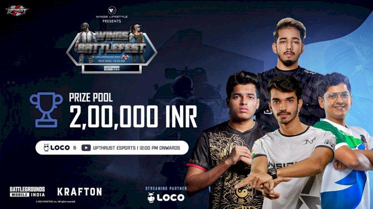 Upthrust Esports announces Wings Battlefest Battlegrounds Mobile India Tournament